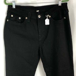 Plus True Religion Black Denim Curvy Skinny Jeans